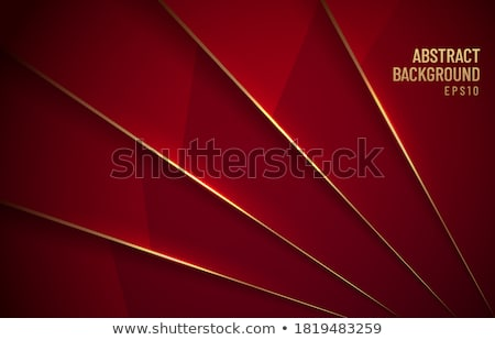 shiny triangles background in golden and maroon color Stock photo © SArts