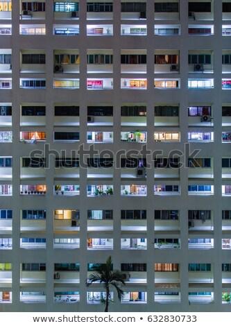 Сток-фото: жилой · здании · Windows · огромный · современных · небе