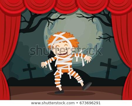 мальчика зомби костюм этап иллюстрация ребенка Сток-фото © bluering