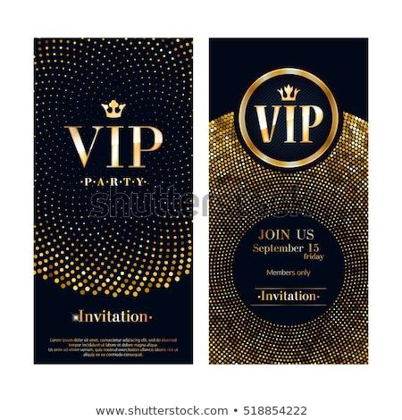 vector vip club party invitation template stock photo © orson