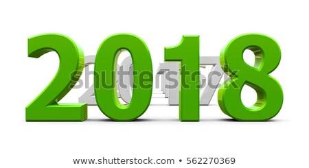 Verde año nuevo 3d feliz Foto stock © Oakozhan