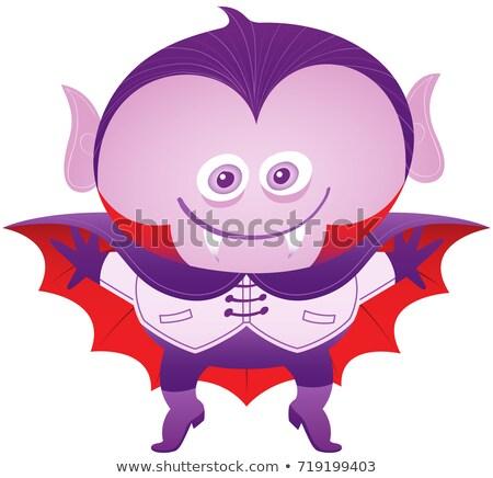 Mischievous Boy Wearing A Halloween Dracula Costume Foto stock © zooco