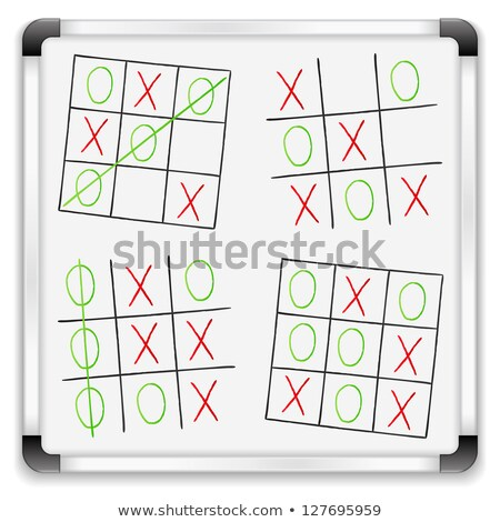 green chalkboard with hand drawn strategy for victory stock photo © tashatuvango