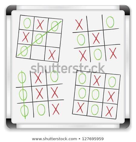зеленый доске рисованной стратегия победу болван Сток-фото © tashatuvango