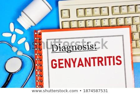 diagnose · medische · 3d · render · verslag · pillen · spuit - stockfoto © tashatuvango