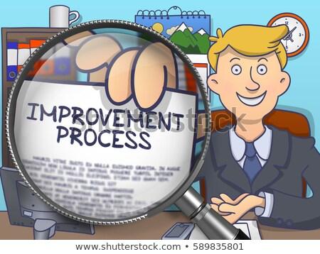 Folyamat automatizálás lencse firka stílus iroda Stock fotó © tashatuvango