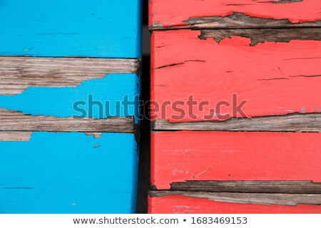 Blue weather worn wooden texture with paint peeling off Stock photo © stevanovicigor