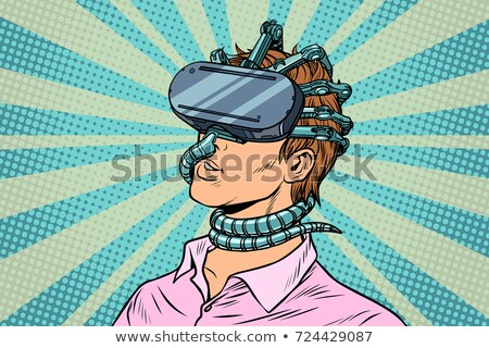 young man in a virtual reality, gadget parasite Stock photo © studiostoks