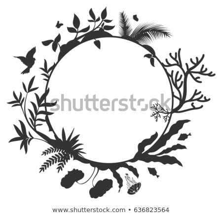 International Day for Biological Diversity round frame elements nature Stock photo © orensila