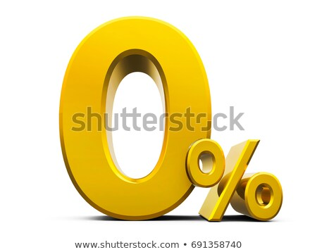 Altın sıfır yüzde imzalamak yalıtılmış beyaz Stok fotoğraf © Oakozhan