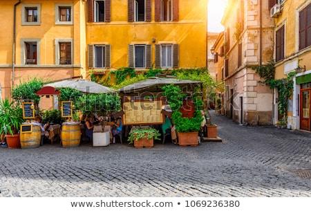 Ortaçağ dar sokak Roma İtalya Stok fotoğraf © Virgin