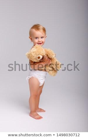 довольно девушки подгузники подгузник белый стороны Сток-фото © Traimak