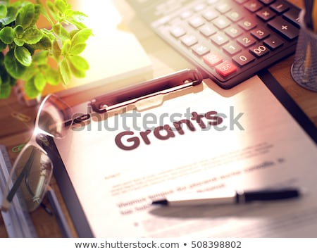 Clipboard with Grants Concept. 3D. Stock photo © tashatuvango