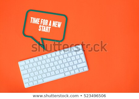 New Way - Metallic Keyboard Concept. Stock photo © tashatuvango