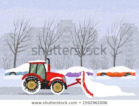 tél · hóvihar · utazás · hóvihar · autók · autó - stock fotó © romvo