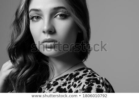 jonge · elegante · vrouw · creatieve · luipaard - stockfoto © iordani