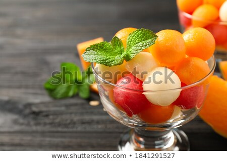 Vegetarisch bal salade achtergrond plantaardige arab Stockfoto © M-studio
