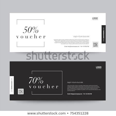 Elegancki sprzedaży zniżka talon szablon banner Zdjęcia stock © SArts