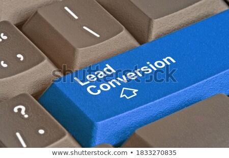 Keyboard with Blue Key - Referral Marketing. Stock photo © tashatuvango