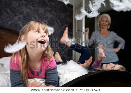 Open · deur · slaapkamer · witte · home · deur · hotel - stockfoto © is2