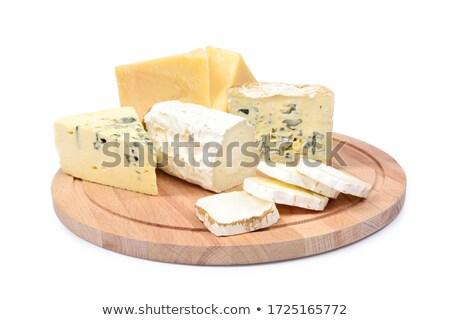 Gurme peynir plaka rokfor camambert üzüm Stok fotoğraf © zhekos
