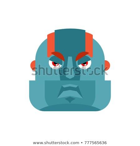 robot angry cyborg evil emotions robotic man aggressive vecto stock photo © popaukropa