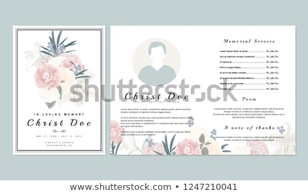 funeral card template stock photo © orson