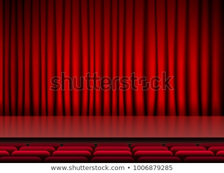 auditorium stage threater with red curtains and seats Stock photo © SArts
