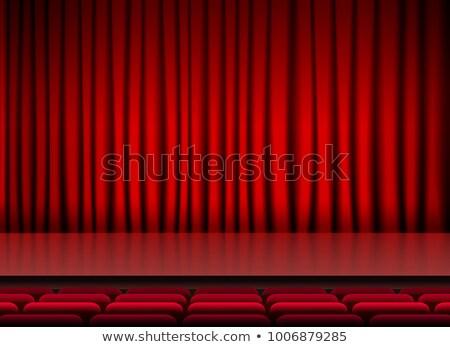 Gehoorzaal fase Rood gordijnen concert club Stockfoto © SArts