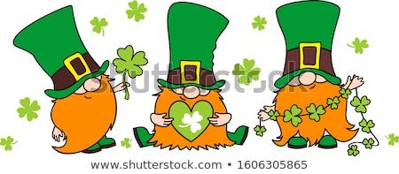 Happy St Patricks Day Leprechaun Cartoon  Stock photo © Krisdog