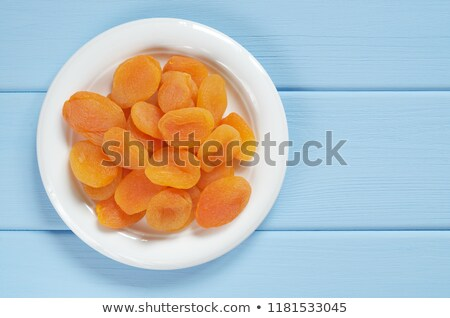 plate of dried apricots Stock photo © Digifoodstock