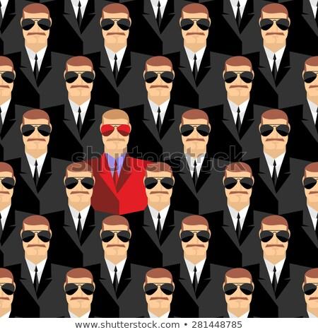 Titok kém végtelen minta terv háttér biztonság Stock fotó © popaukropa