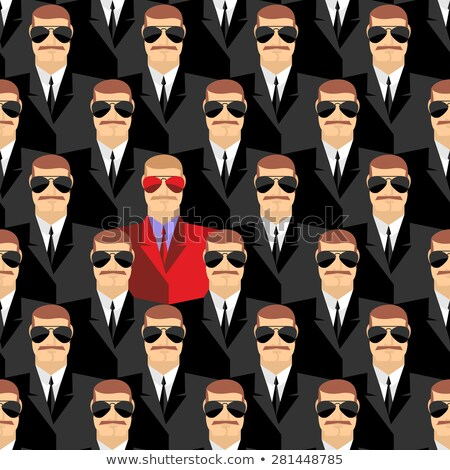 Geheime spion ontwerp achtergrond veiligheid Stockfoto © popaukropa