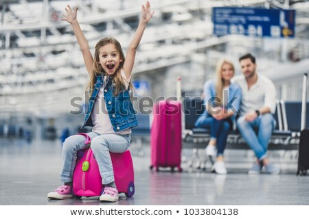 Young family at tourist attraction Stock photo © IS2