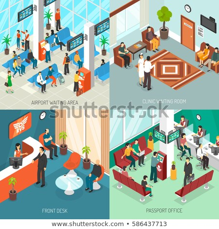 Office reception hall isometric 3D element Stock photo © studioworkstock