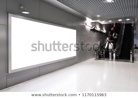 Modern international passenger airport advertising Stock photo © studioworkstock