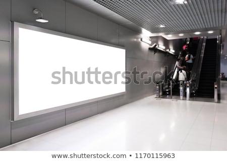 modern · nemzetközi · repülőtér · hirdetés · üvegszerű · levegő - stock fotó © studioworkstock