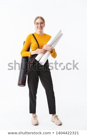Foto stock: Mujer · de · negocios · planos · negocios · ventana · de · trabajo