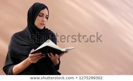 mujer · lectura · libro · belleza · color - foto stock © monkey_business