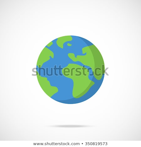 Cartoon земле дерево трава ретро планеты Сток-фото © kariiika