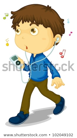 мальчика прослушивании mp3-плеер человека ребенка наушники Сток-фото © IS2