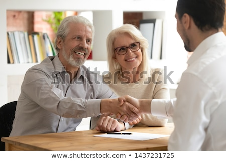 Couple parler conseiller financier affaires homme Homme Photo stock © IS2