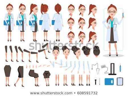 Stok fotoğraf: Stetoskop · ikon · farklı · stil · vektör · simge
