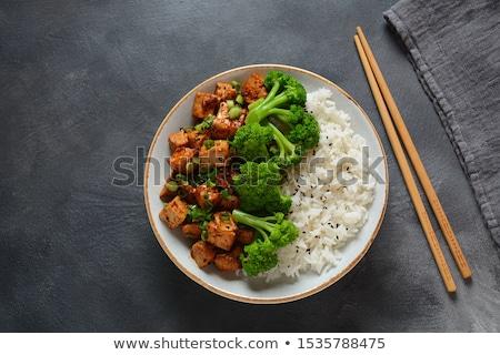 Brócolis frito tofu fundo cenoura Ásia Foto stock © M-studio