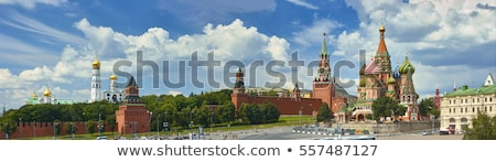 Stock photo: Moscow Kremlin tower, Red Square. Travel Russia sign.