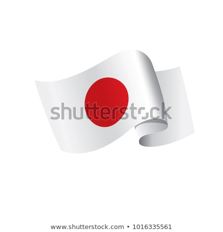 Japan Flag isolated. Japanese ribbon banner. state symbol Stock photo © popaukropa