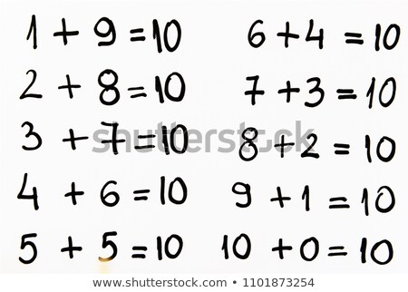 A Math Addition to 10 Stock photo © bluering