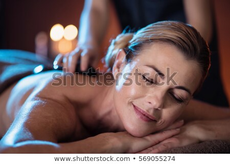 Détente massage table heureux Homme Photo stock © monkey_business