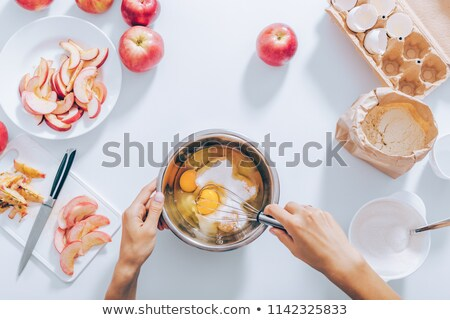 Flat lay Cup cake making ingredients. Stock photo © RTimages