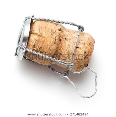 champagne cork on white stock photo © magraphics